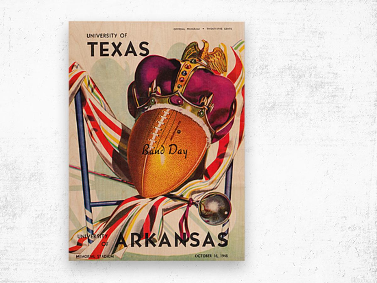 1948 Texas Longhorns vs. Arkansas Razorbacks | Row 1 Wood print