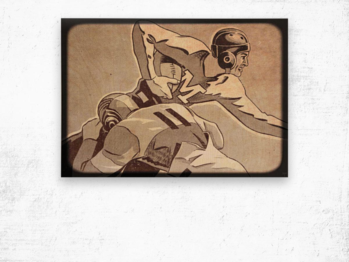 1938 Vintage Football Art   Row 1 Wood print