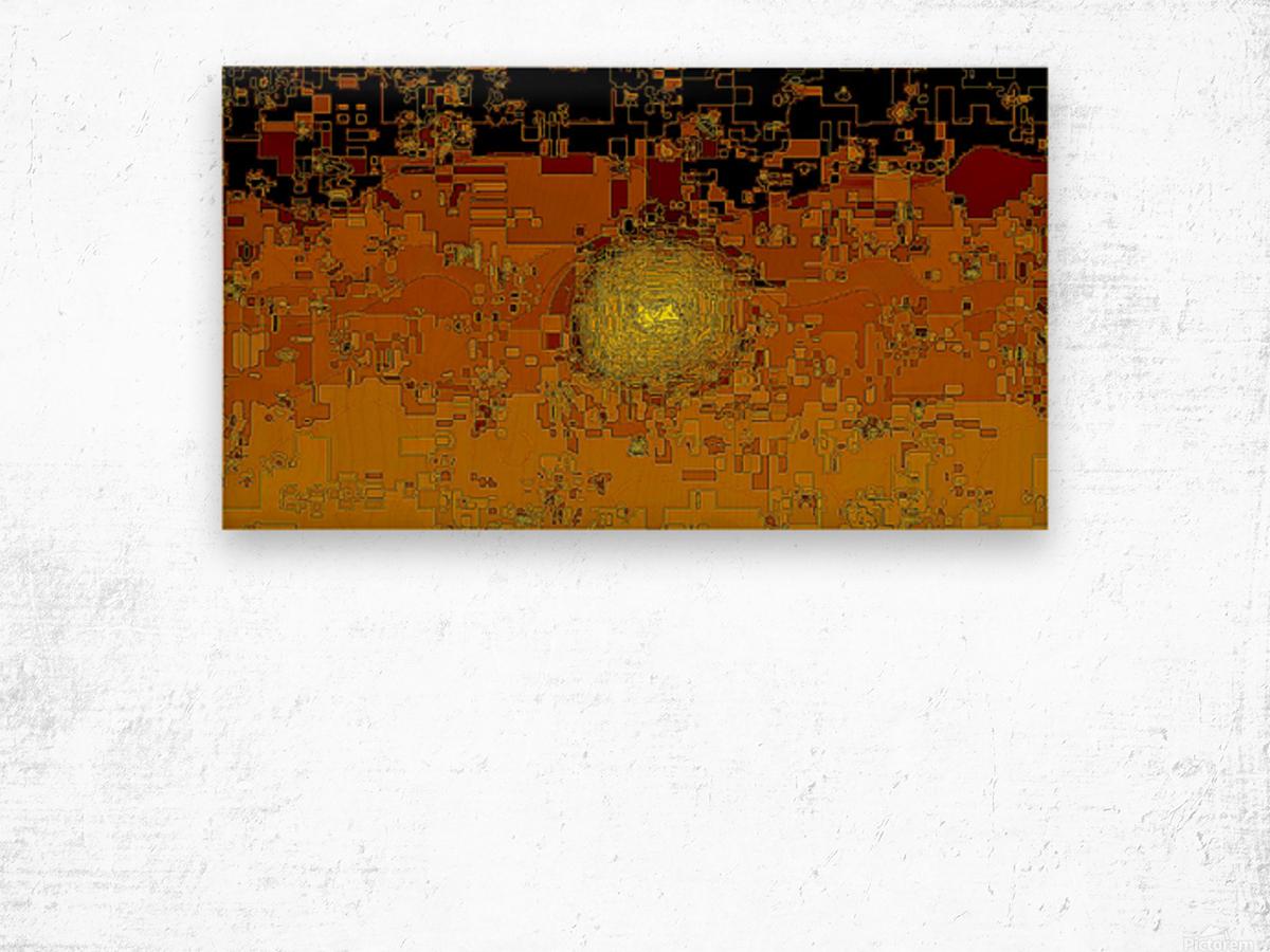 Mayan Sun Wood print