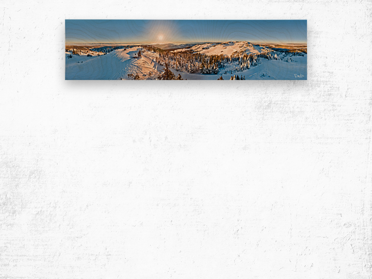 Above the Top of the World Wood print