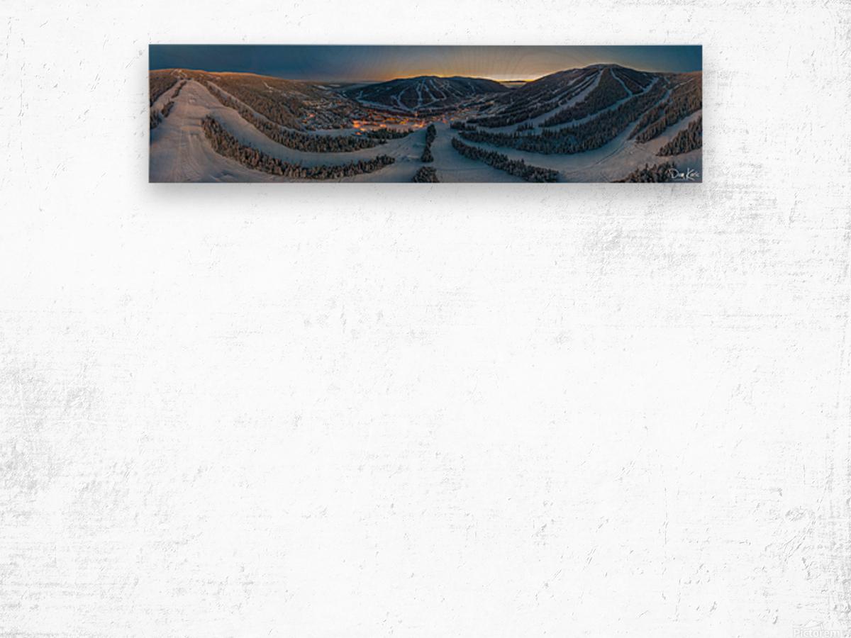 Valley Twilight Wide Wood print