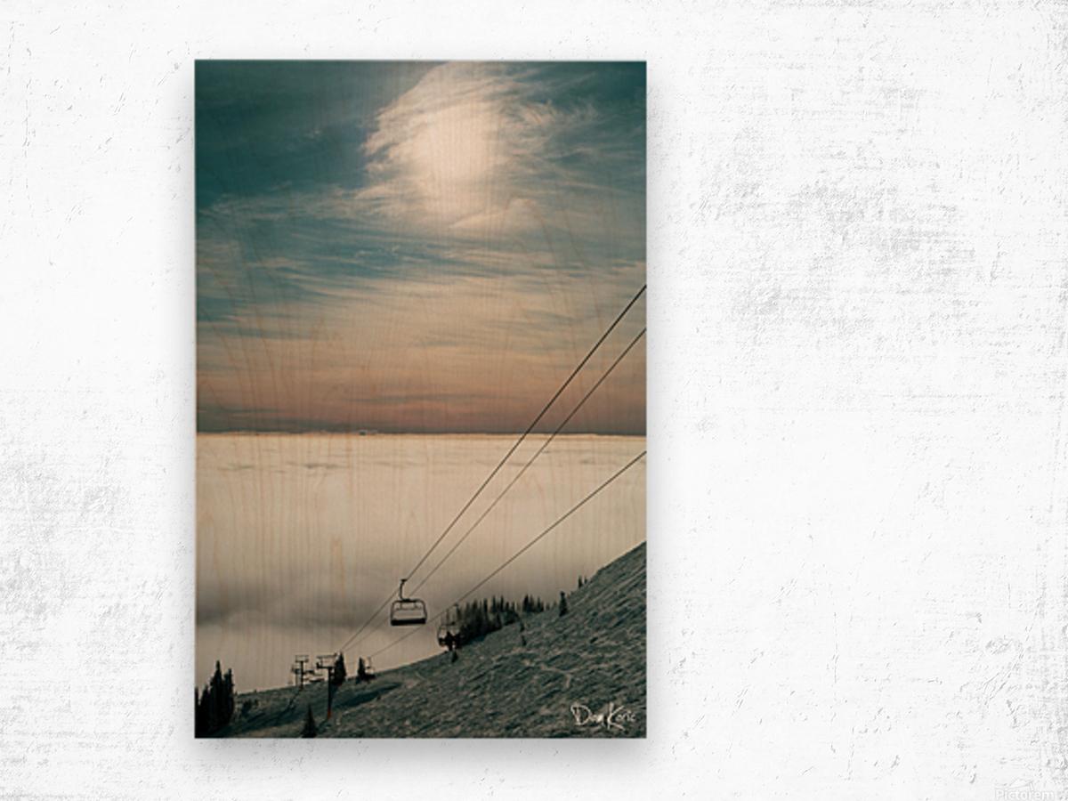 Sun Scape Wood print