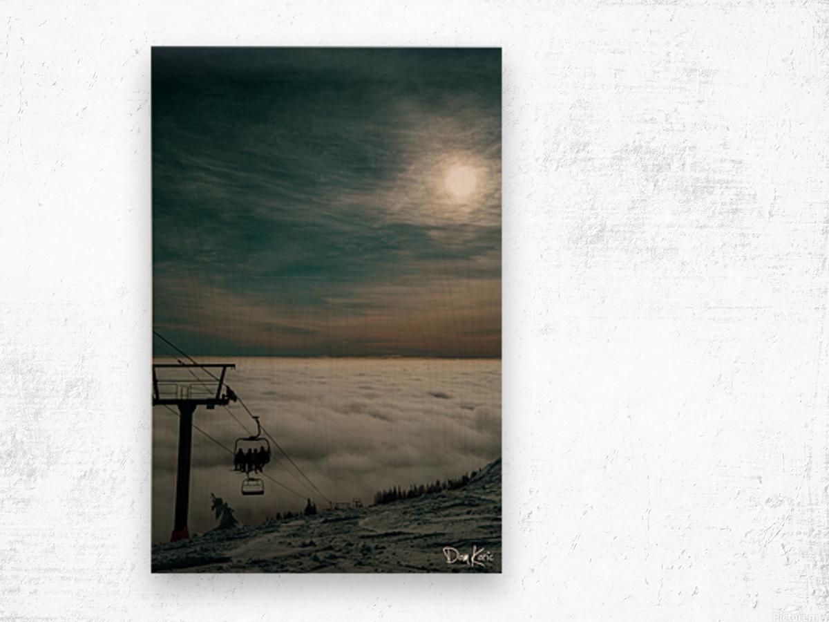 Rising Above Wood print