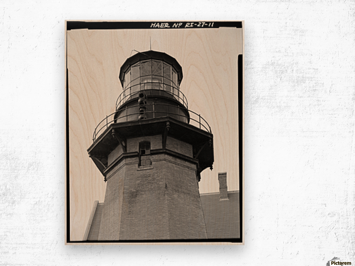 Block Island Southeast Light (Detail) Wood print