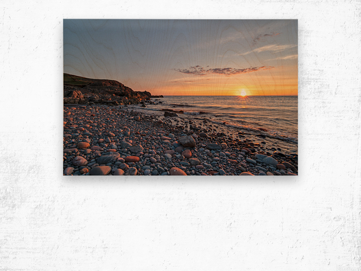 Corney Brook Sunset Wood print