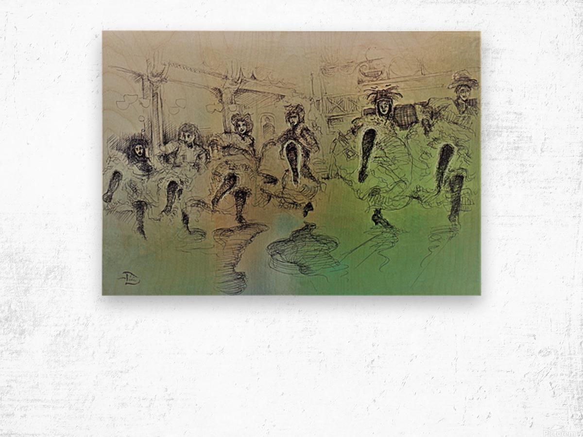 The Bluebell Girls Wood print