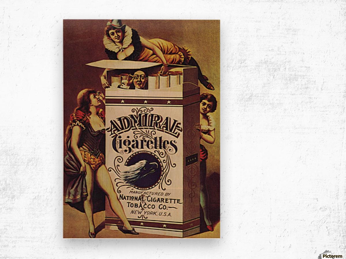 Admiral Cigarettes National Cigarette Tobacco Co Ad Poster 1890 Wood print
