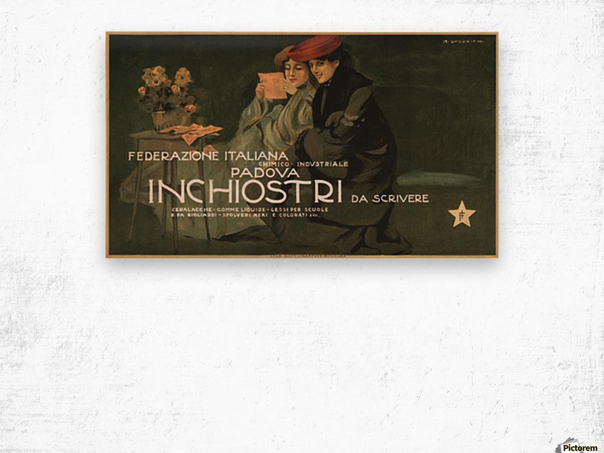 Federazione Italiana Chimico Industriale Padova Inchiostri Da Scrivere Poster Wood print