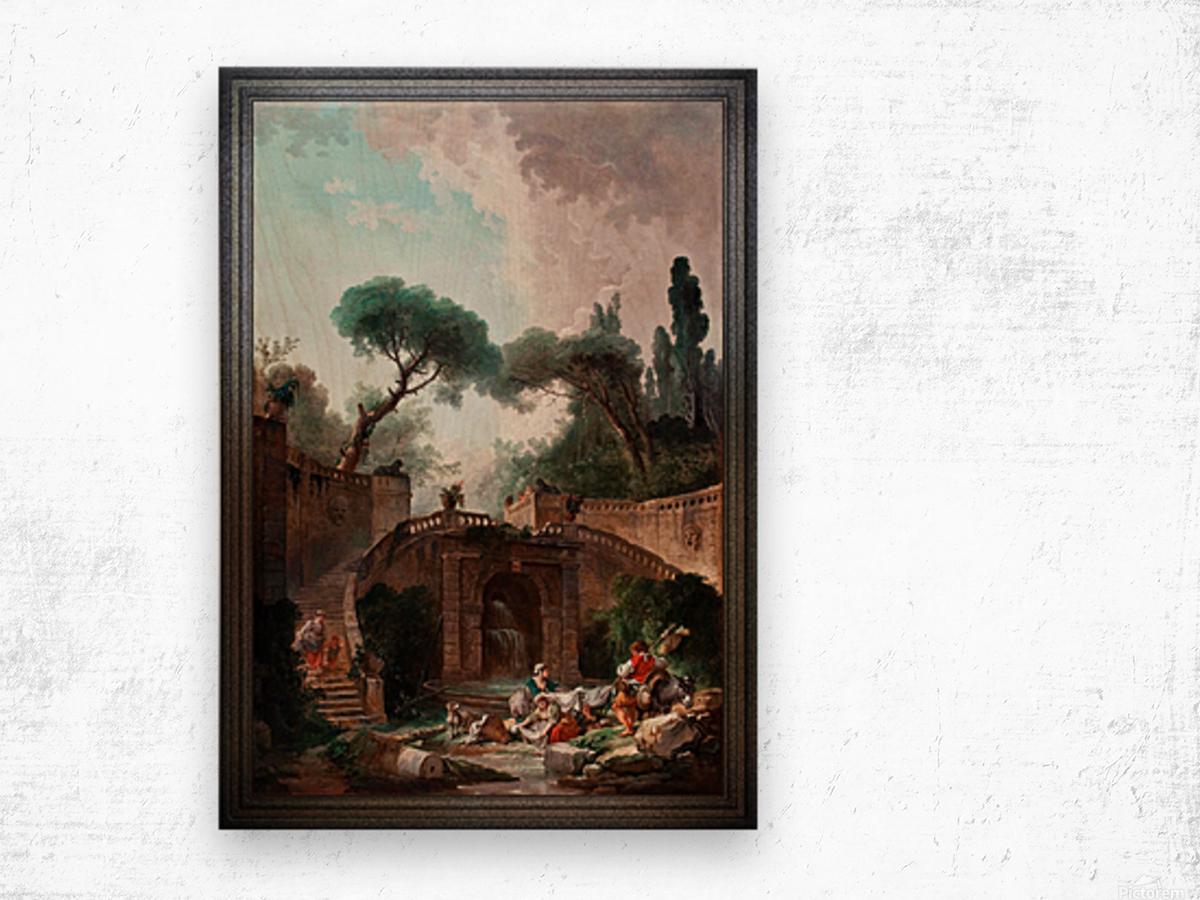 Park vile dEste by Hubert Robert Classical Fine Art Xzendor7 Old Masters Reproductions Wood print