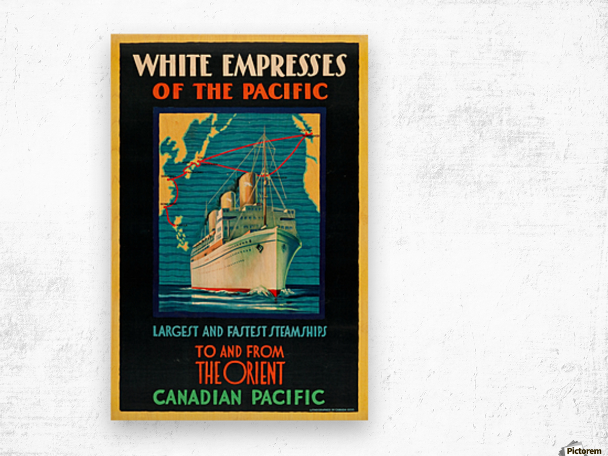 Canadian Pacific Travel Poster Wood print