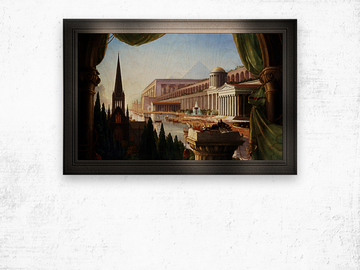 Architects Dream by Thomas Cole Classical Fine Art Xzendor7 Old Masters Reproductions Wood print