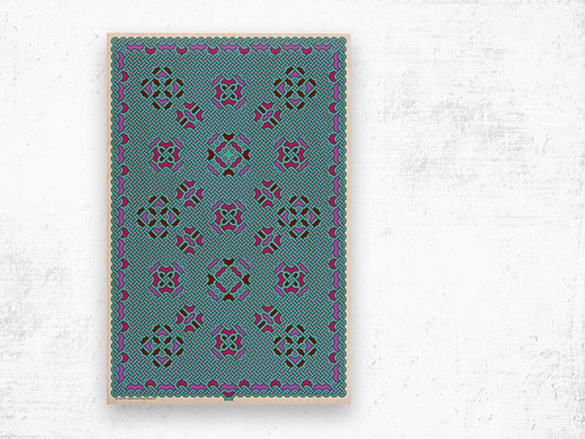 Celtic Maze 5010 Wood print