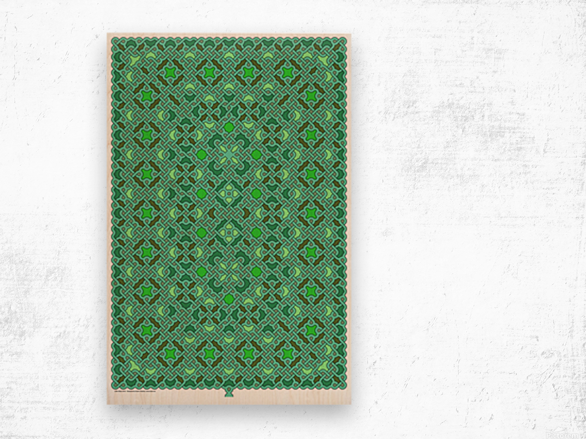 Celtic Maze 5015 Wood print