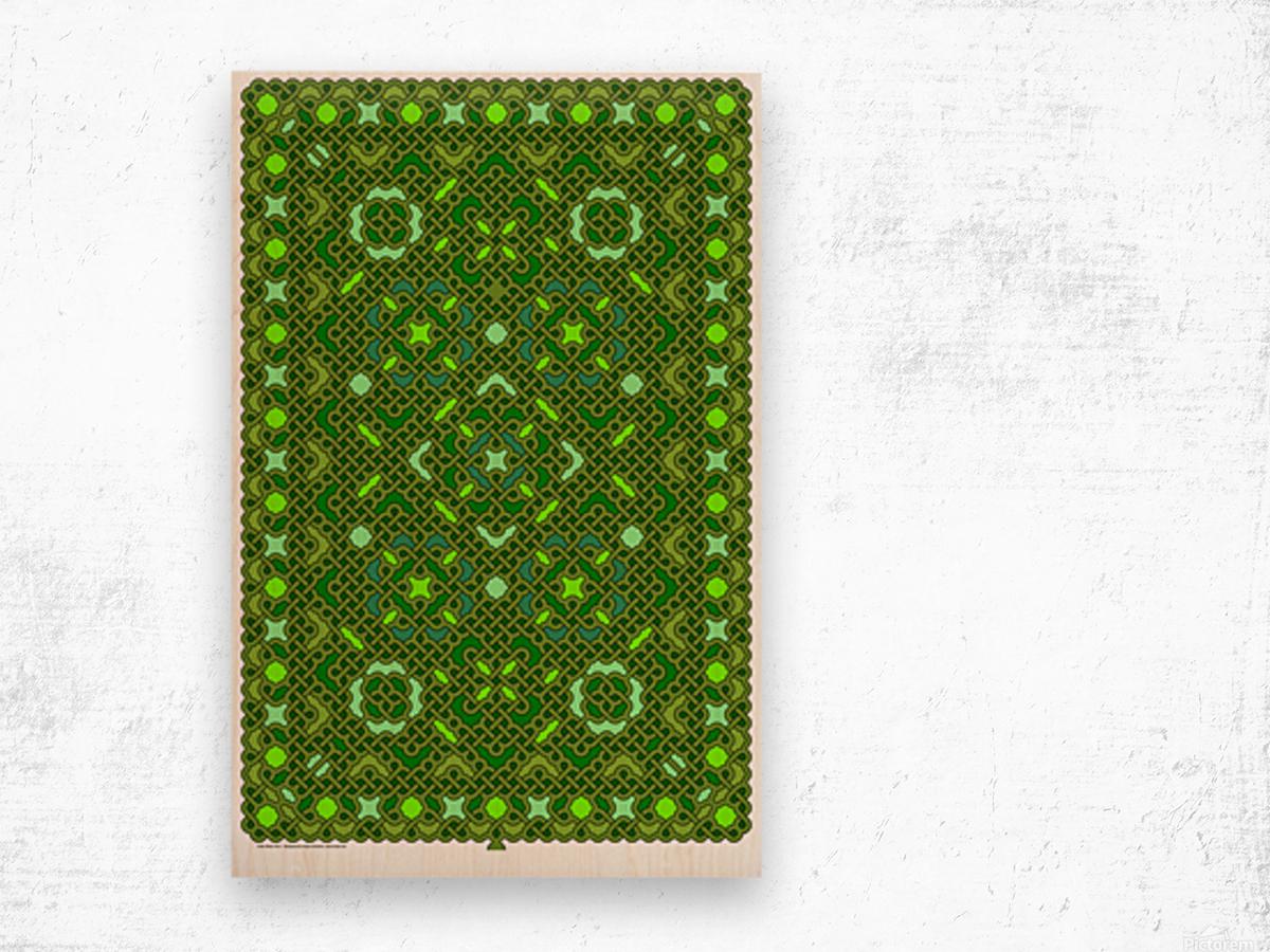 Celtic Maze 5017 Wood print