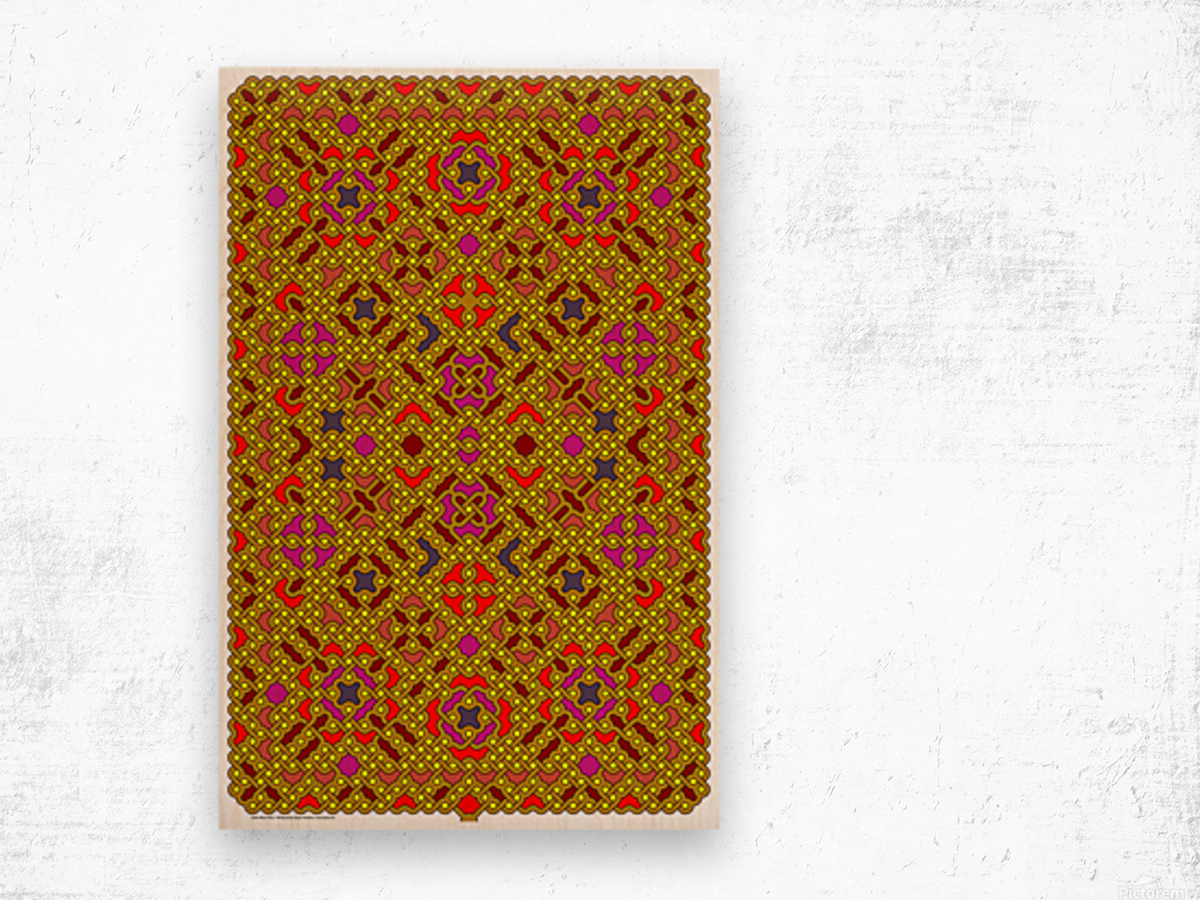 Celtic Maze 5013 Wood print