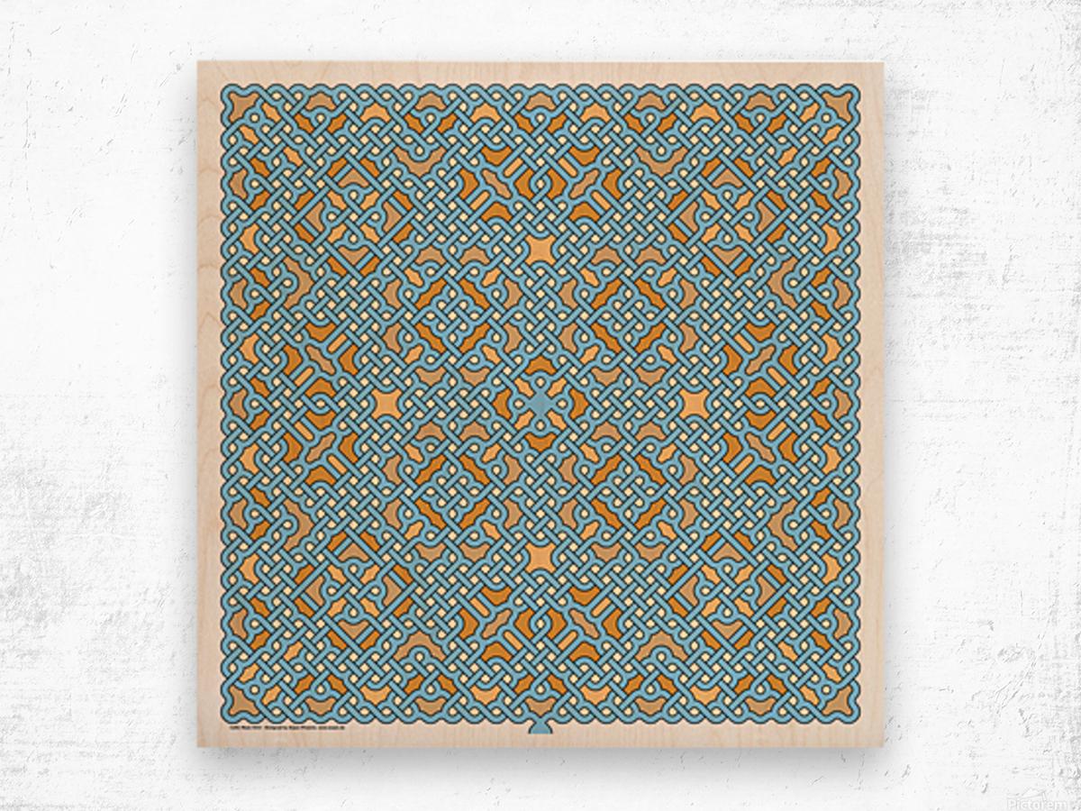 Celtic Maze 5022 Wood print