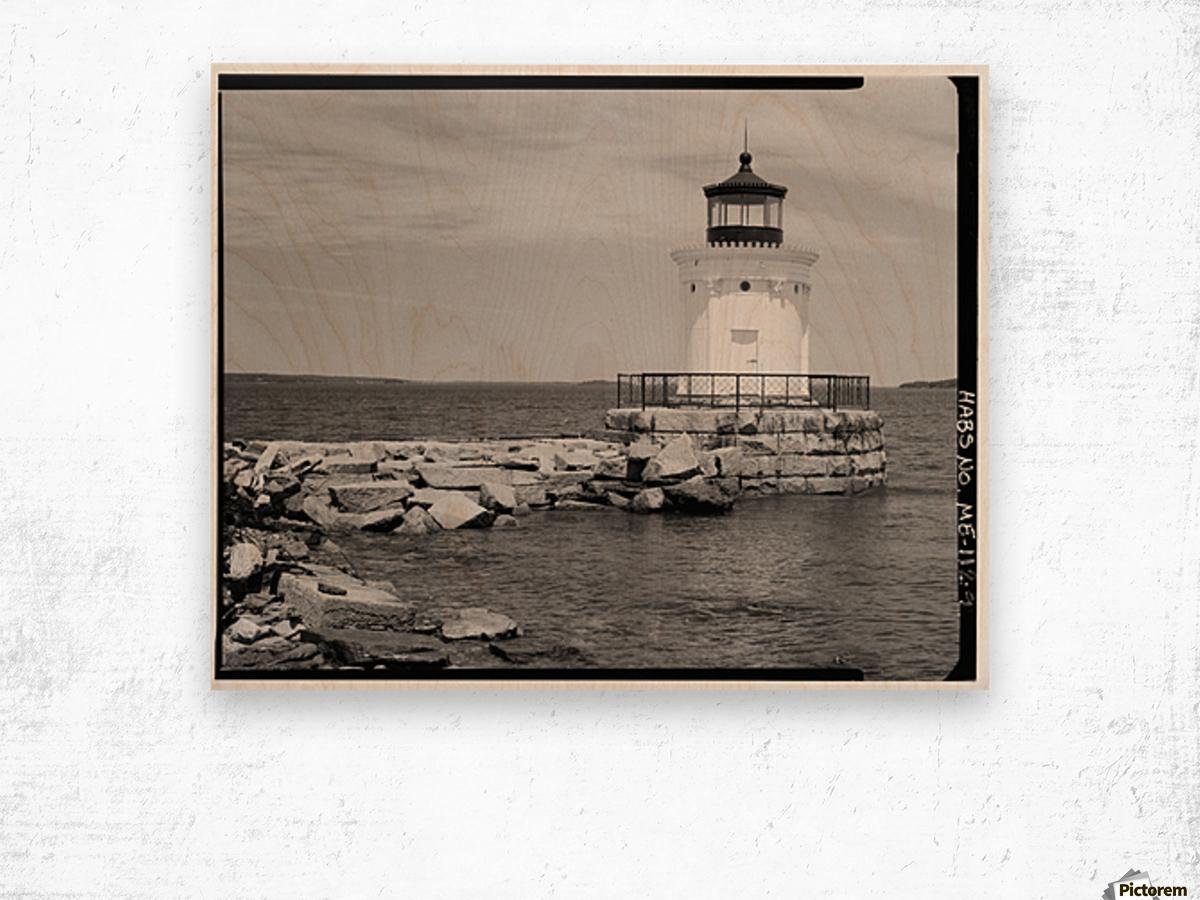 Portland-Breakwater-Lighthouse-2-Maine Wood print