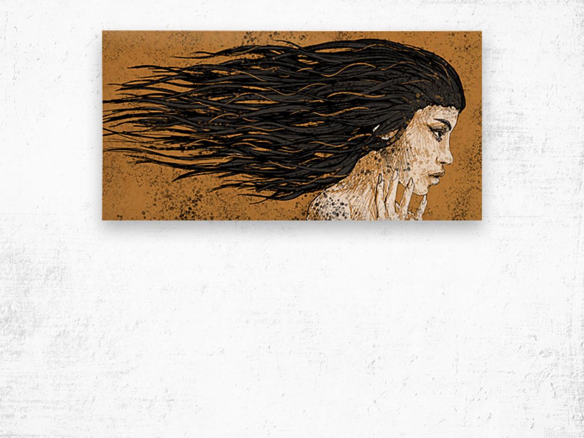 Precious Metals - Concept Art 1 - Gold Wood print