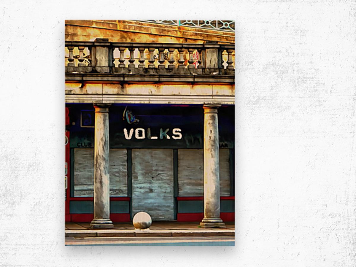Volks Ticket Office Brighton Wood print