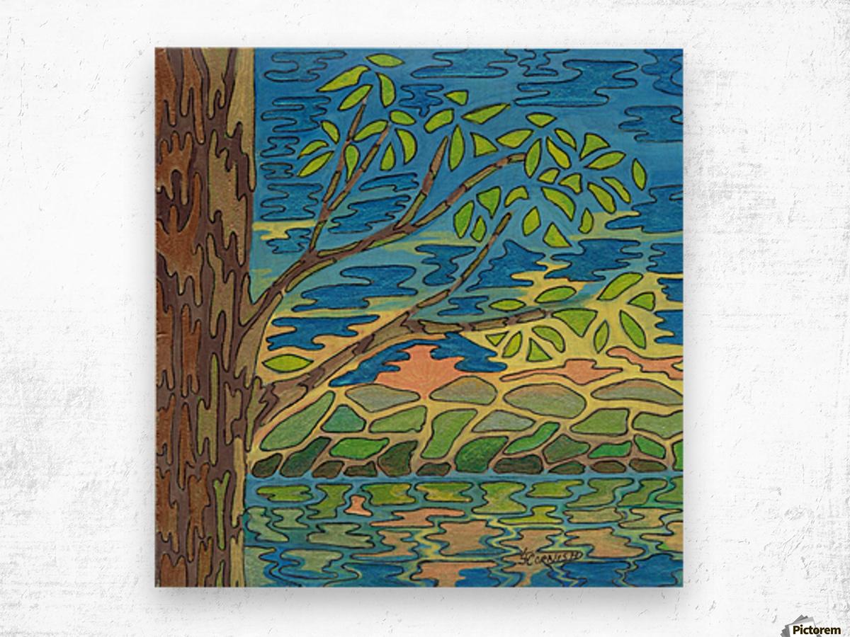 Blue View Wood print