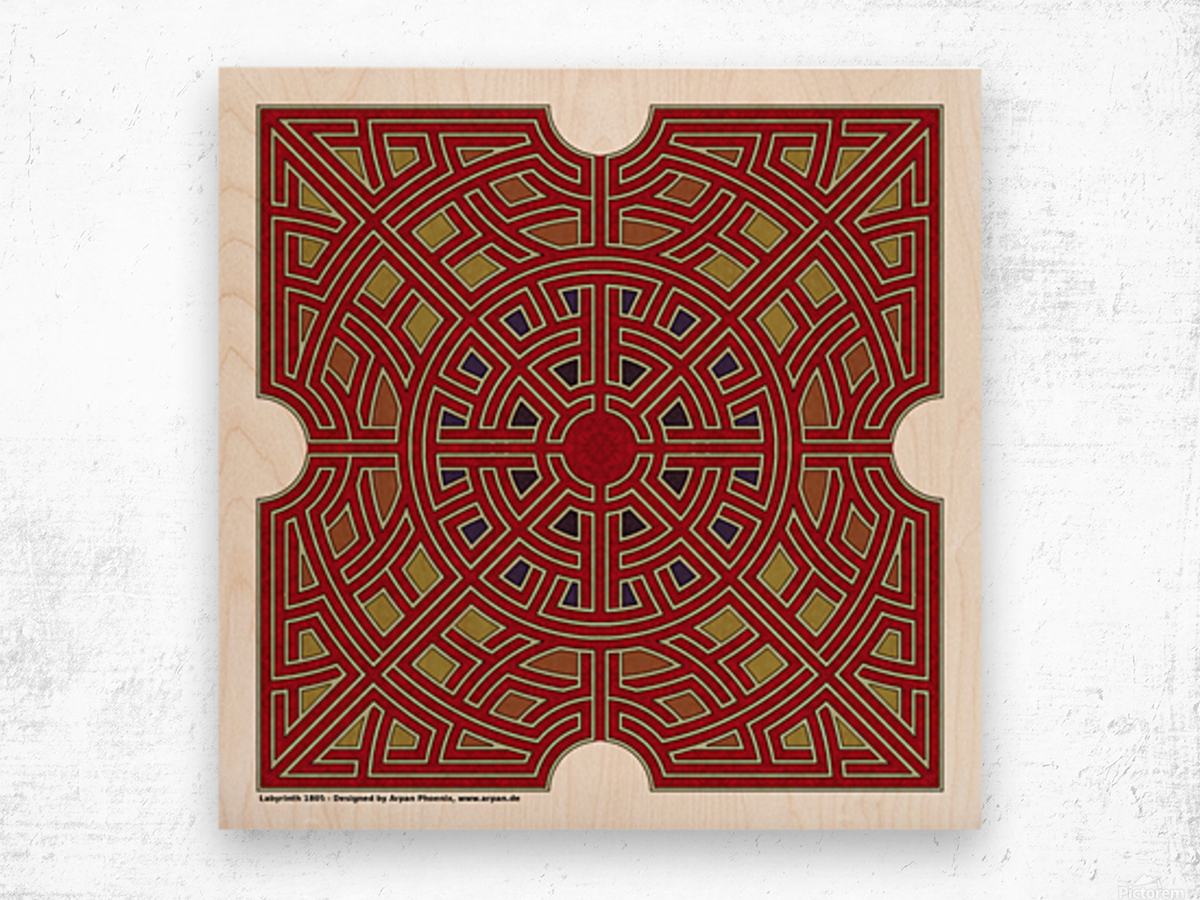 Labyrinth 1805 Wood print