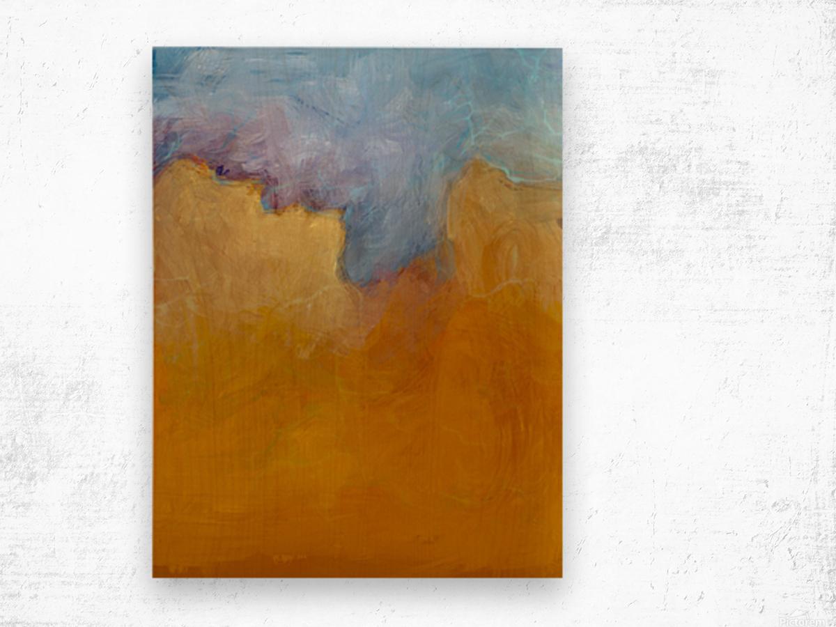 Big Orange Cloud Wood print