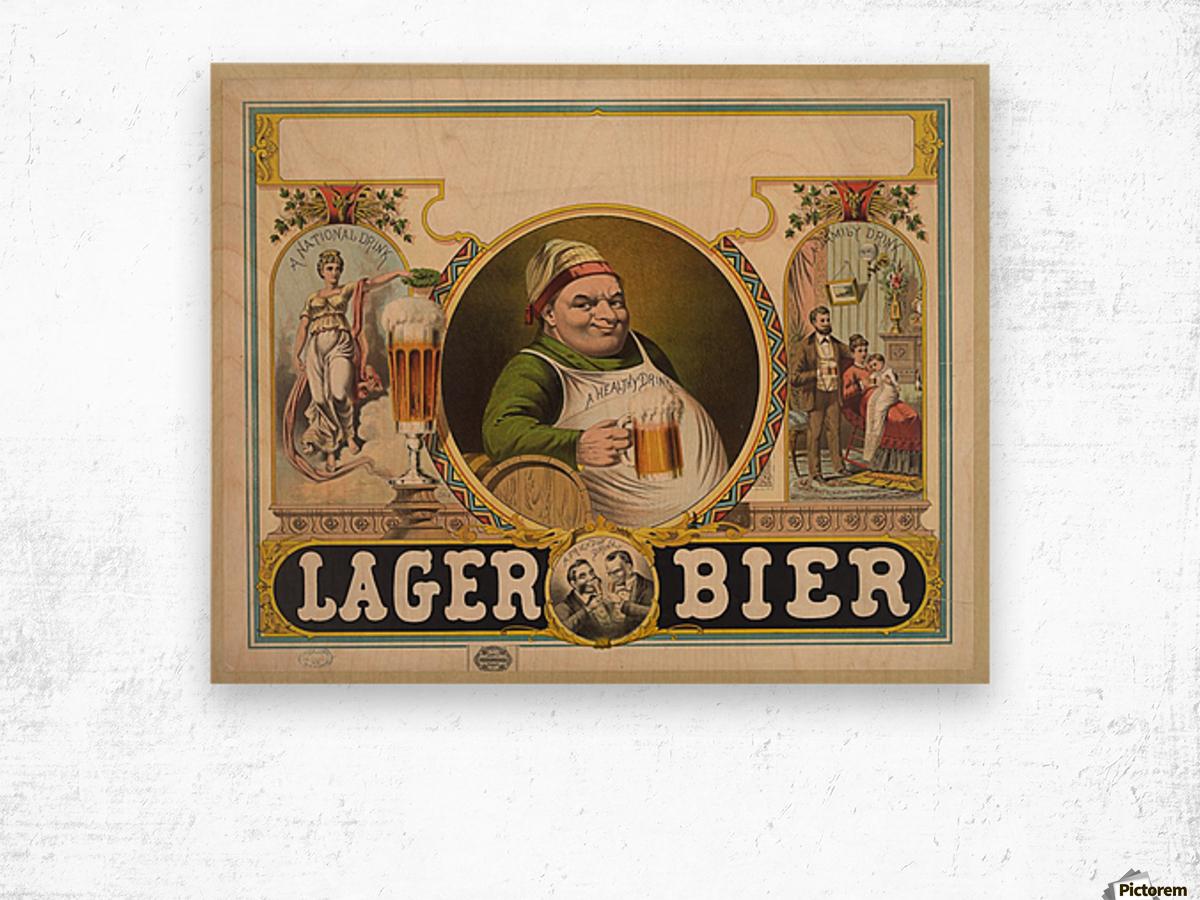 Lager Bier Vintage Poster Wood print