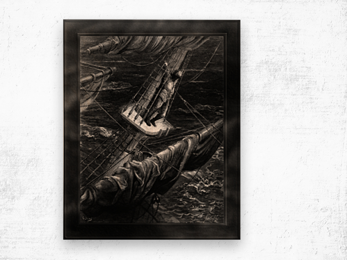 I Had Done a Hellish Thing by Gustave Dore Classical Fine Art Xzendor7 Old Masters Reproductions Wood print