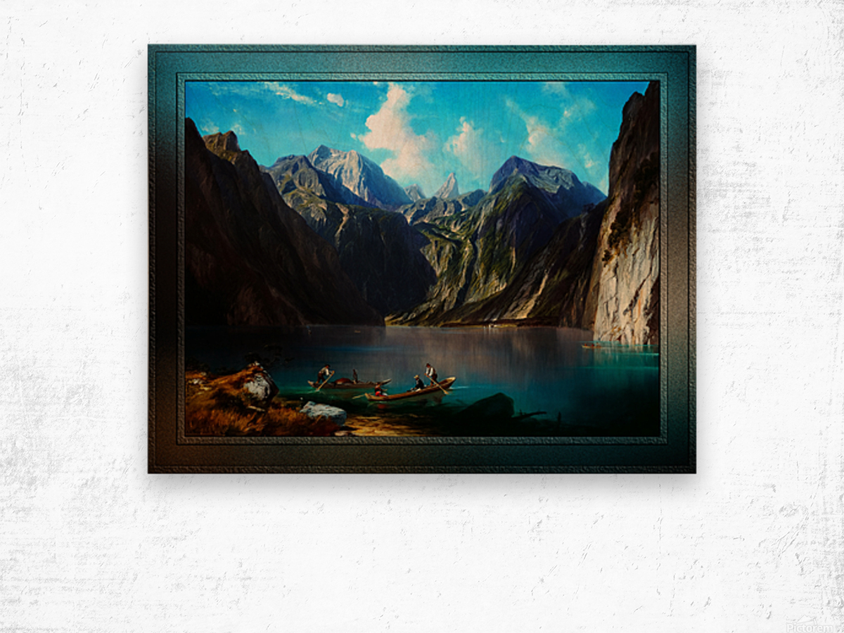 Konigsee c1873 by Willibald Wex Classical Fine Art Xzendor7 Old Masters Reproductions Wood print