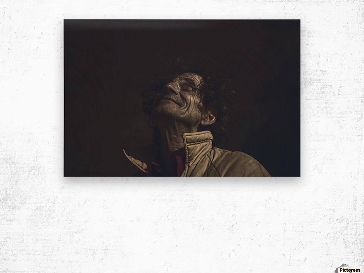 Gadafi Wood print