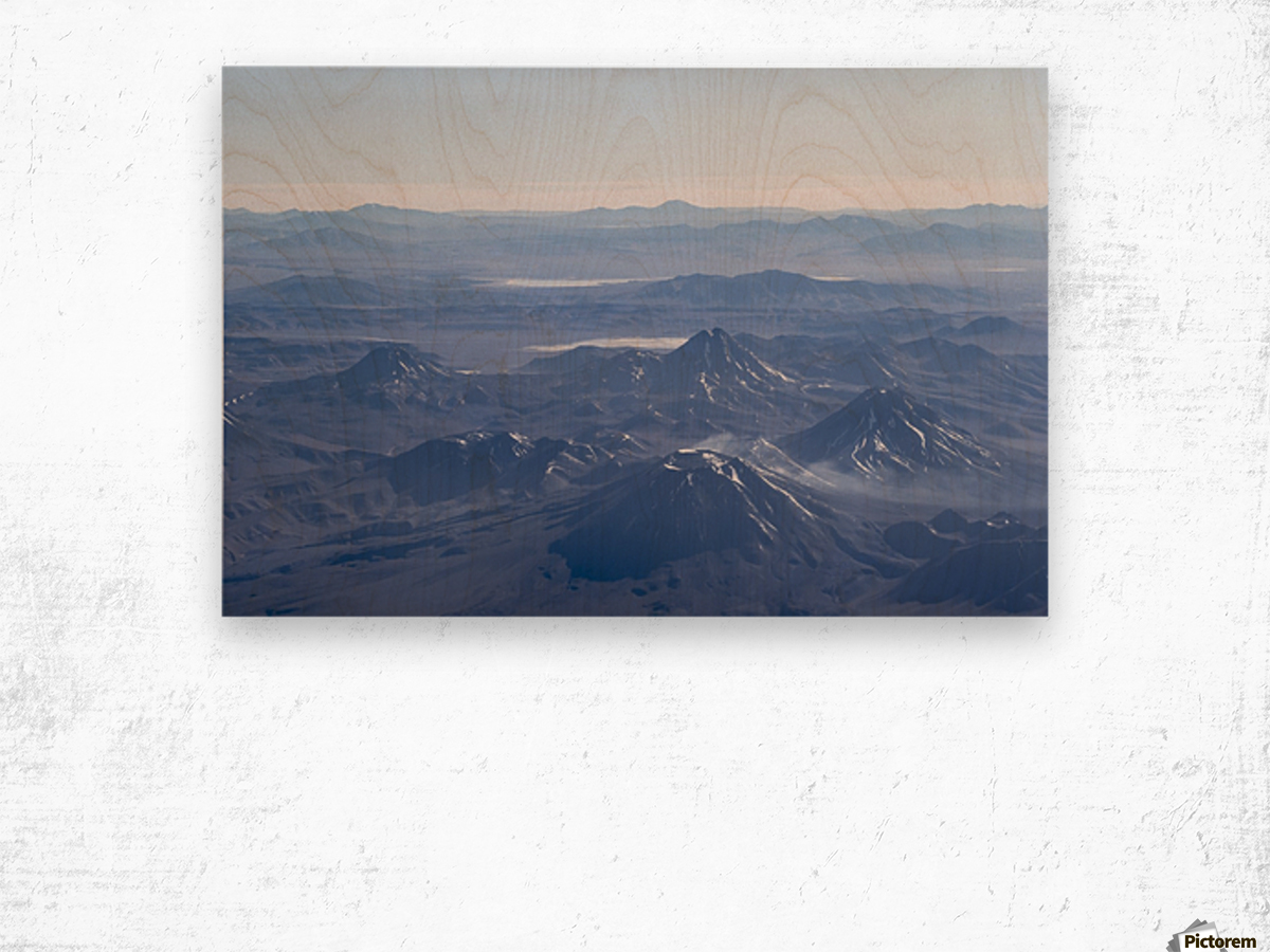 Window Plane View of Andes Mountains Wood print