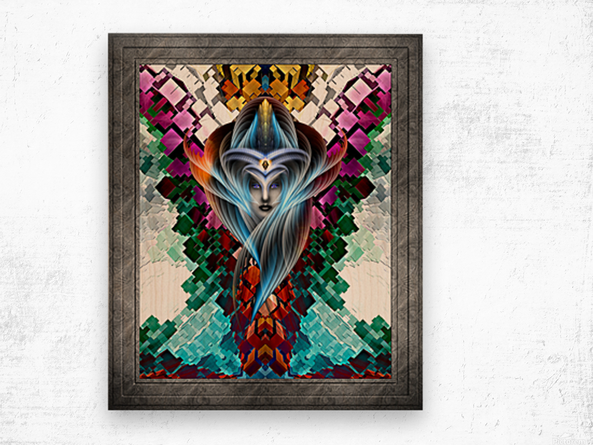 What Dreams Are Made Of GeomatCLR WQ FRAME Fractal Art Cuboid Portrait Wood print