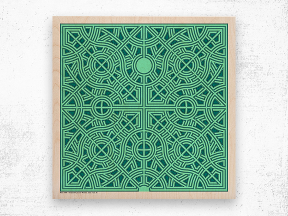 Maze 2835 Wood print