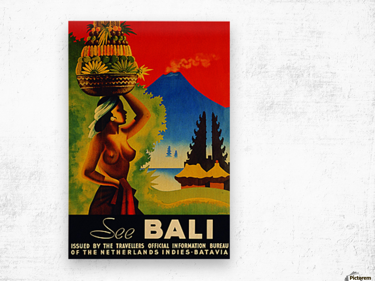 See Bali Girl Travel Poster Vintage Poster Canvas