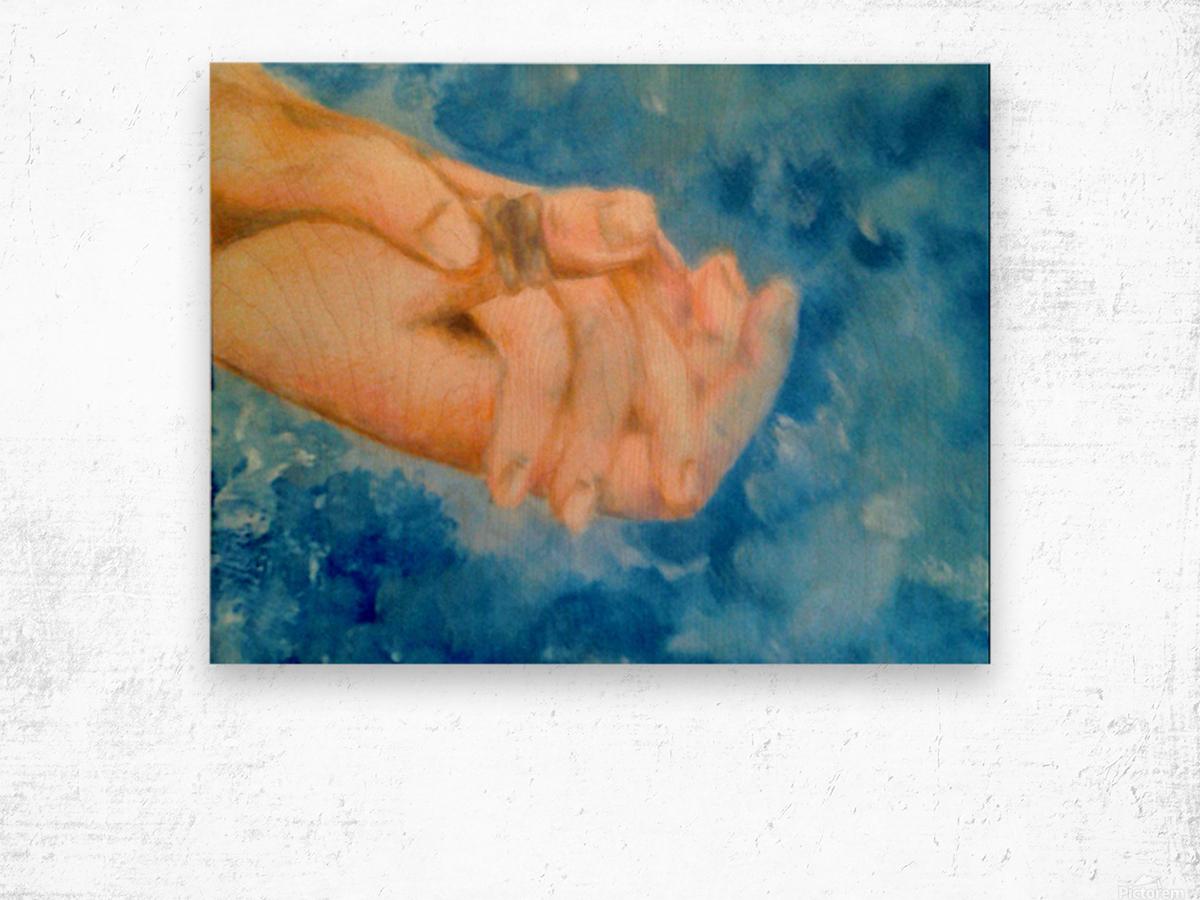 Hoping Hands Impression sur bois