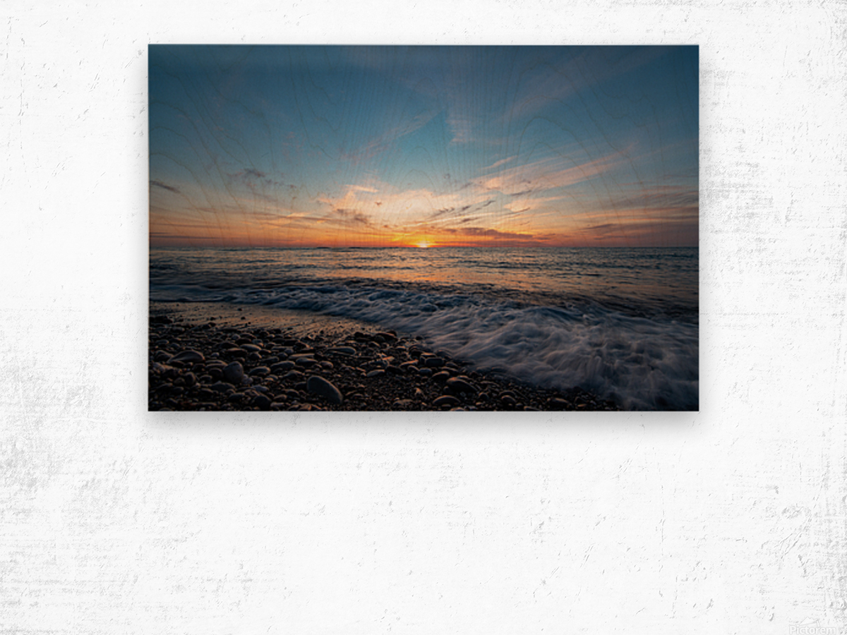 Washed by a Sunset Wood print