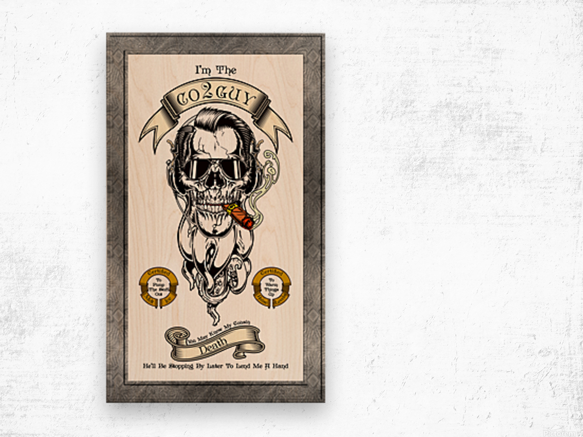 CO2 Guy Certified Real Global Climate Menace WHT Wood print