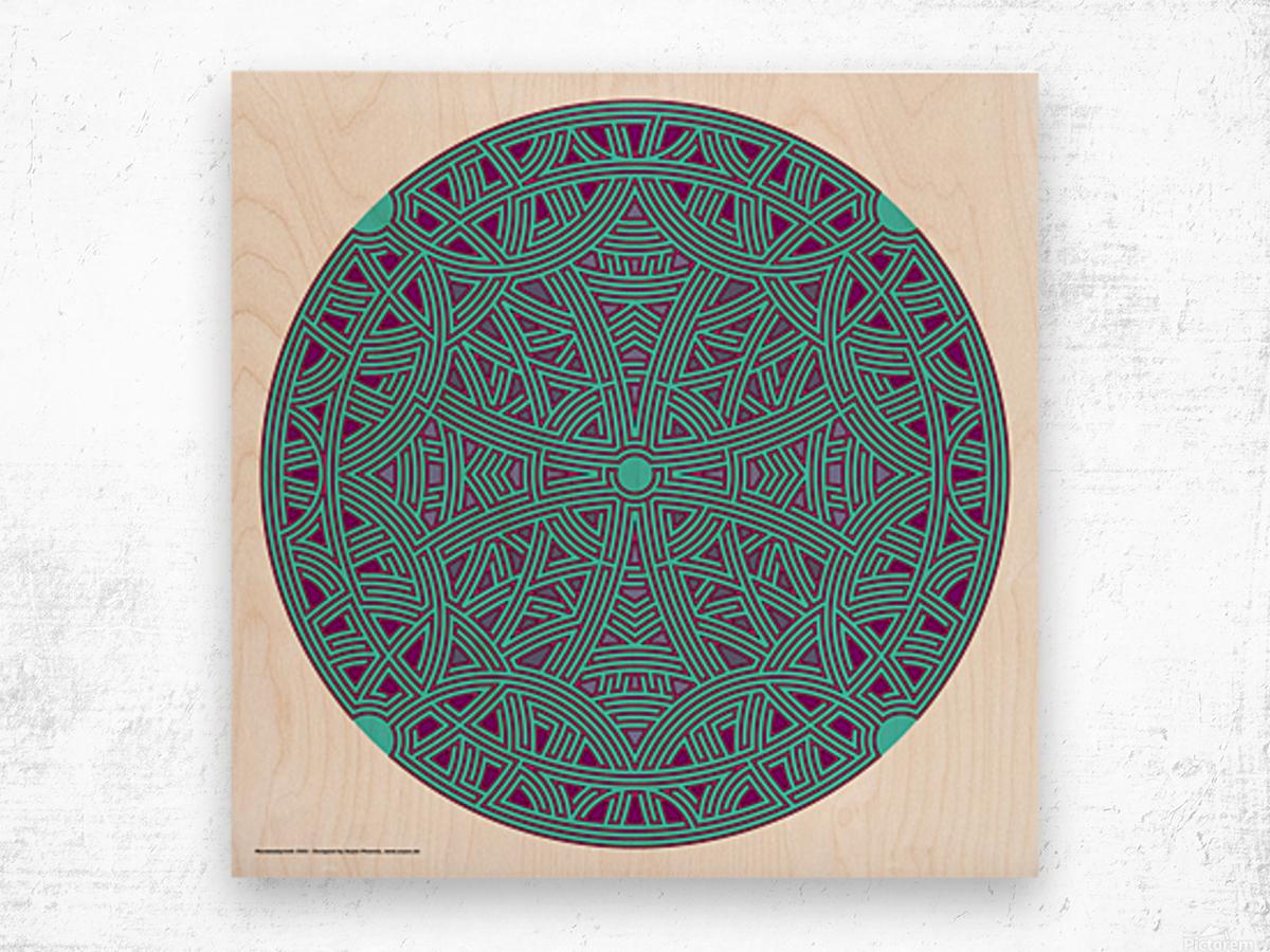 Mandalabyrinth 3503 Wood print