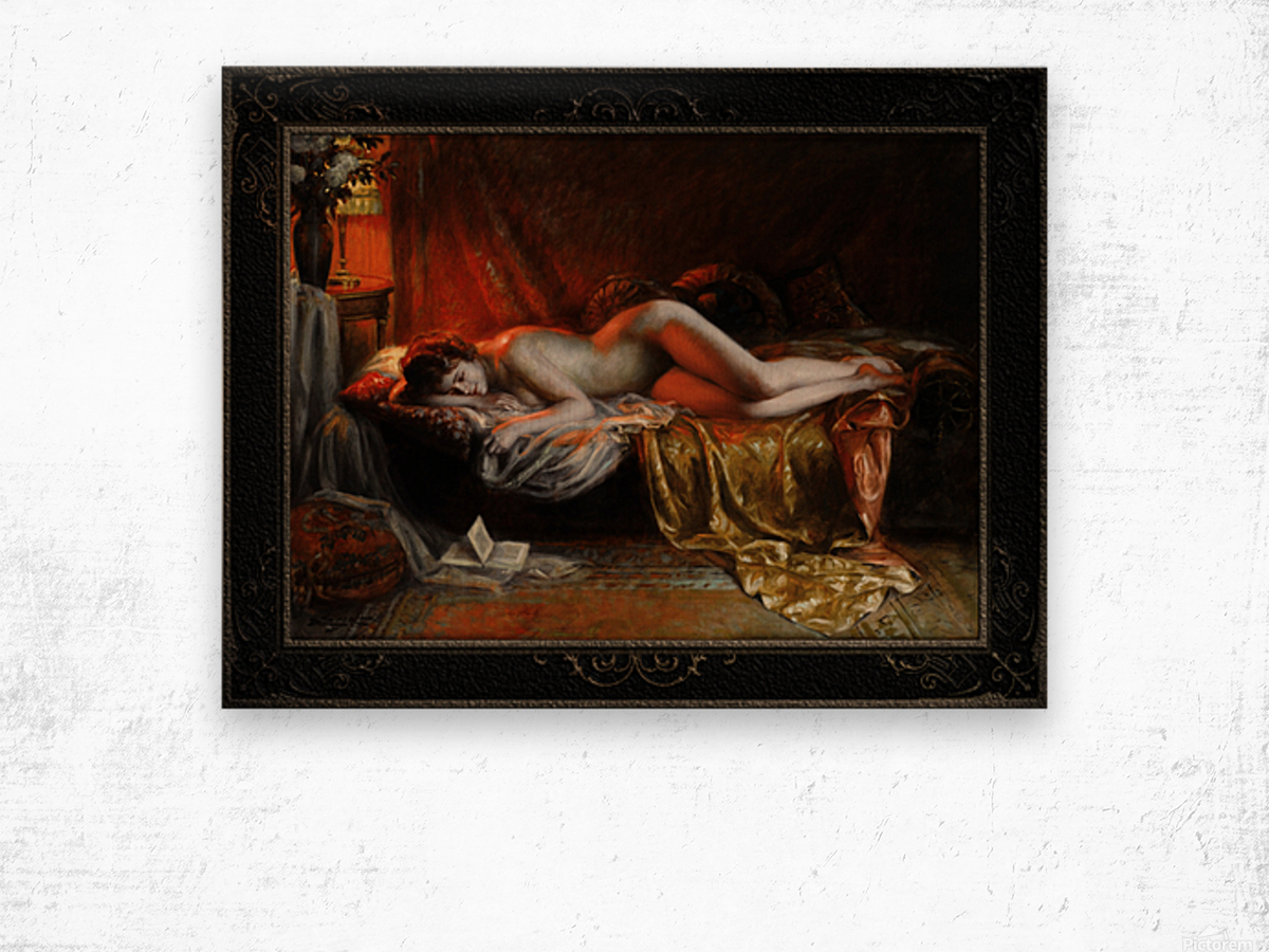 Just Finishing Reading A Novel by Delphin Enjolras Classical Art Xzendor7 Old Masters Reproductions Wood print