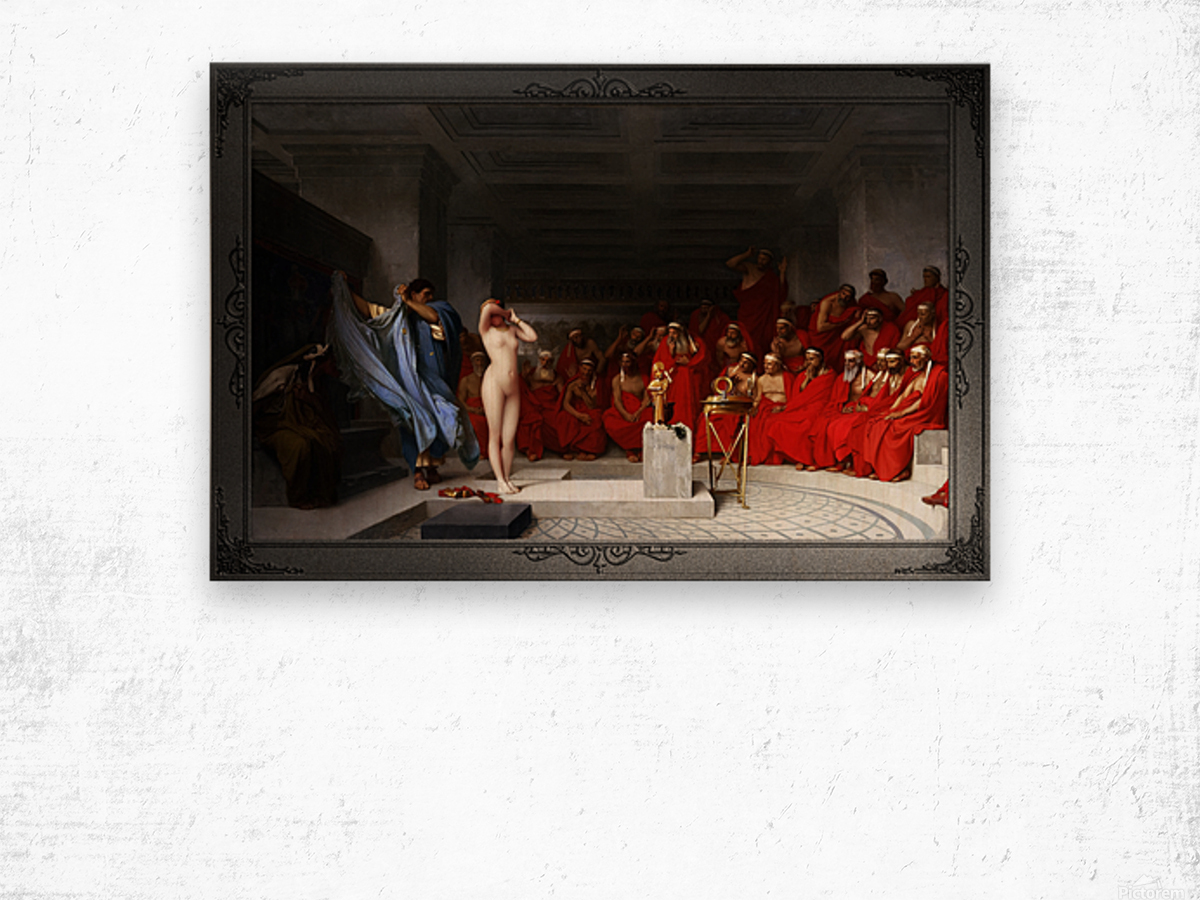 Phryne Revealed Before The Areopagus by Jean-Leon Gerome Classical Fine Art Xzendor7 Old Masters Reproductions Wood print