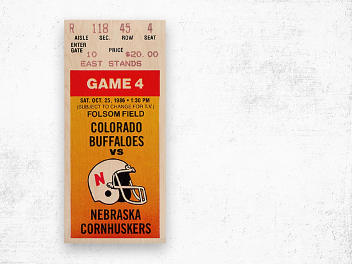 1986 Colorado Buffaloes vs. Nebraska Cornhuskers Wood print
