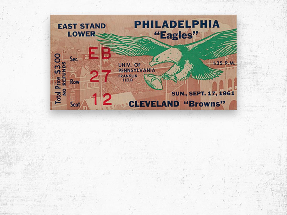 1961 Philadelphia Eagles vs. Cleveland Browns  Wood print