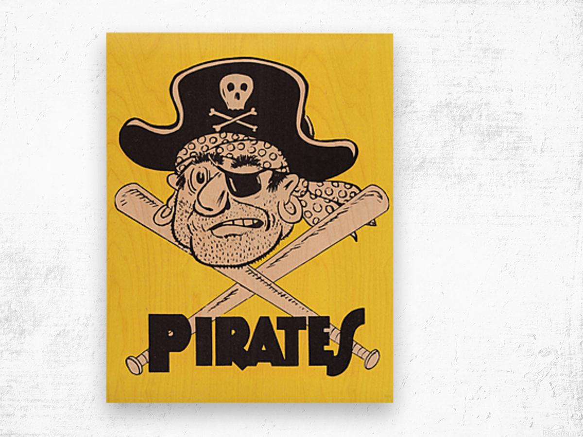Vintage Sixties Pittsburgh Pirates Art Wood print