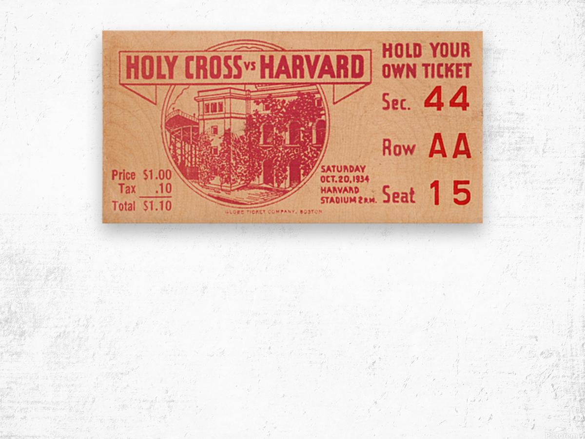 1934 Holy Cross vs. Harvard Wood print
