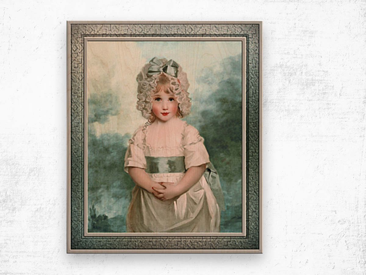 Miss Charlotte Papendick as a Child by John Hoppner Classical Art Xzendor7 Old Masters Reproductions Wood print