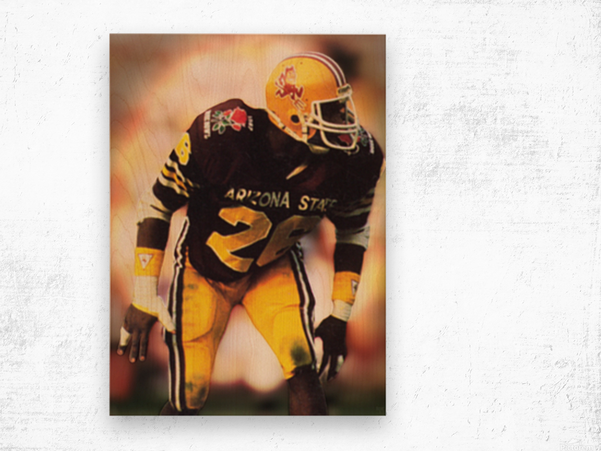 1988 Arizona State Football Art Wood print