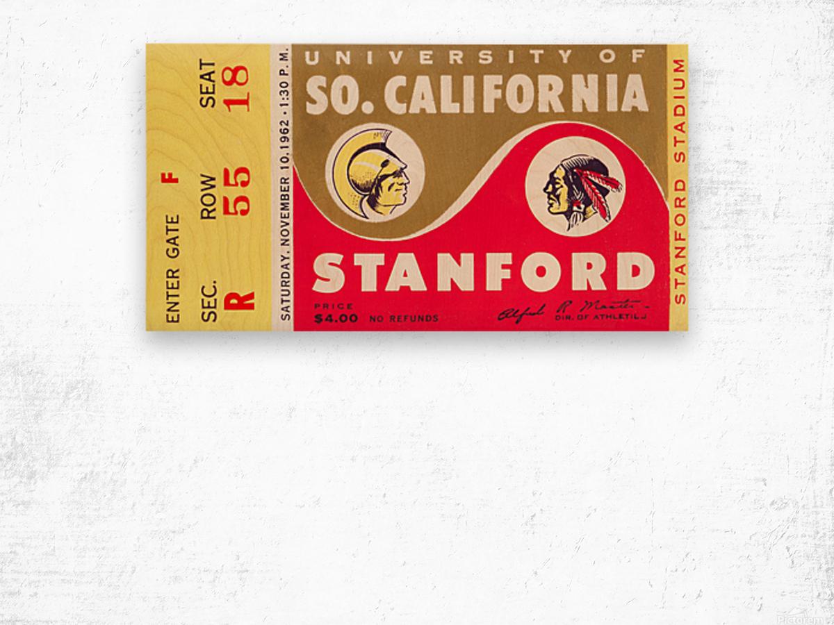 1962 Stanford Indians vs. USC Trojans Wood print