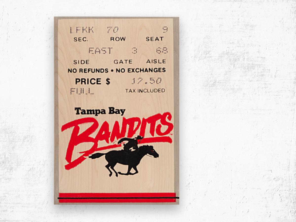 1985 Tampa Bay Bandits Ticket Stub Art Wood print