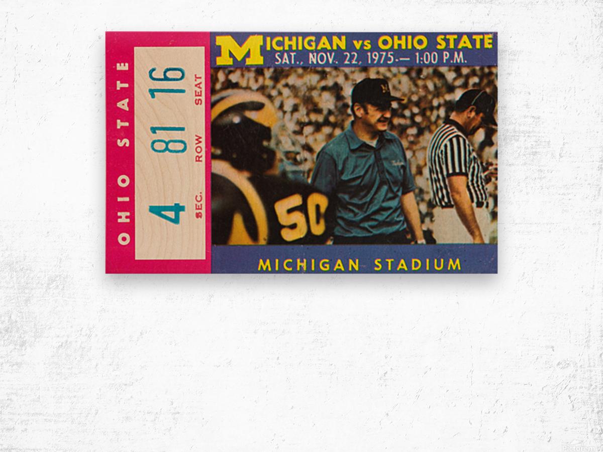 1975 Ohio State vs. Michigan Wood print