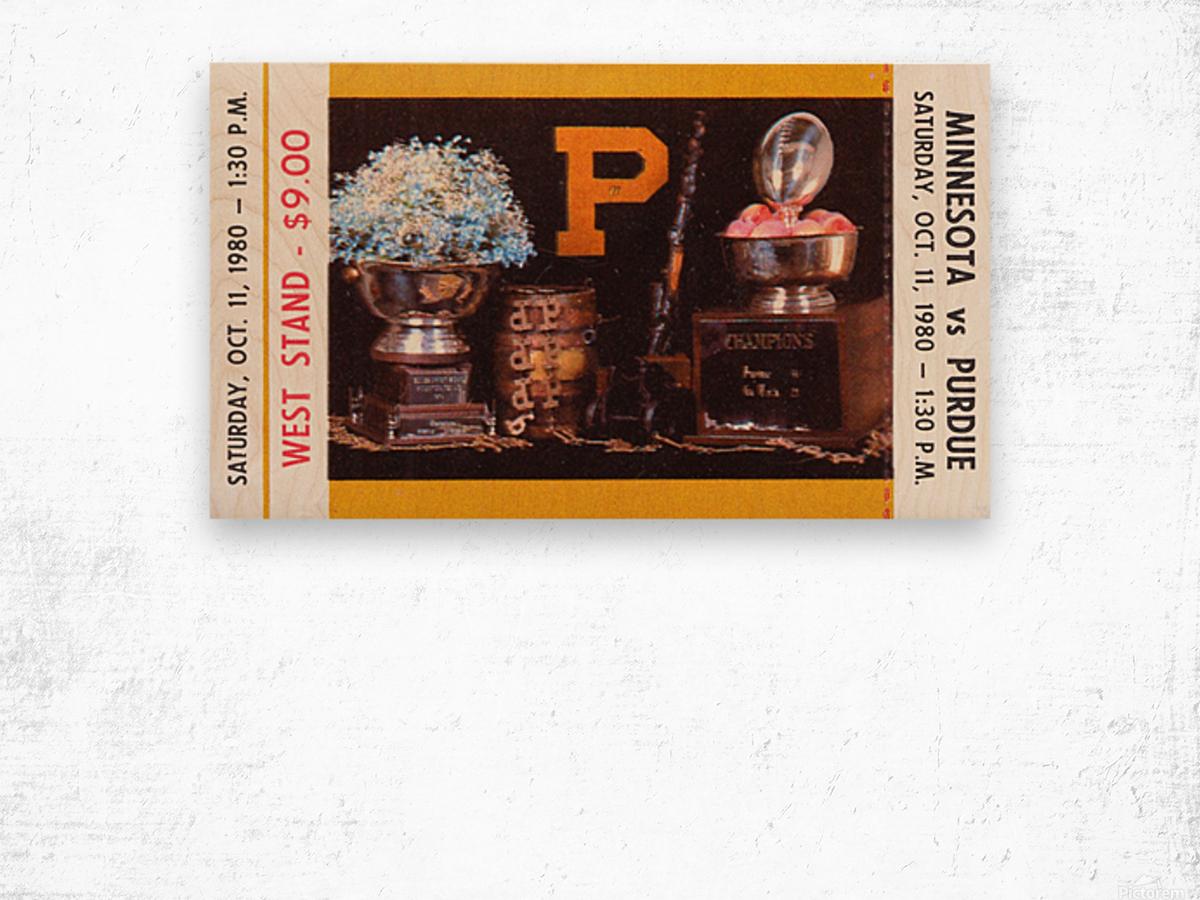 1980 Purdue Boilermakers vs. Minnesota Golden Gophers Wood print